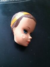 Barbie Miss Barbie Doll Head With Titian Fashion Wig Vintage