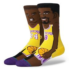 Stance Kobe Bryant Los Angeles Lakers LA 8 24 Crew Socks NBA 2 Faces Men's Large