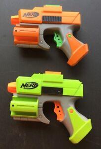 Nerf Single Shot Dart Tag 5 Shot Storage Orange & Yellow Hasbro Toy Gun