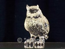 OWL CRYSTAL GLASS Figurine GIFT@COLLECTABLE TAWNY BIRD GRADUATION Gift@WISE OWL