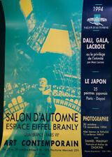 VINTAGE SALVADOR DALI EXHIBITION POSTER, PARIS, 1994