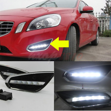 2pcs For Volvo S60 T5 DRL Fog Lamp Front Bumper LED Daytime Running Lights 09-13