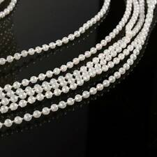 10m 3mm Imitation Pearl Beads Cotton Line Chain Garland Wedding Party  CA