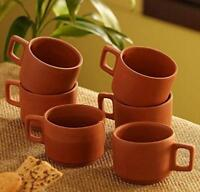 Details about  /Handcrafted Ceramic Milk Mugs 300 ml Set of 2 Hammered Coffee Mugs Teacups