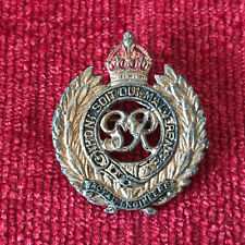 WW2 Royal Engineers Gilt Metal Enamel Sweetheart Brooch Badge GR VI Army SB11