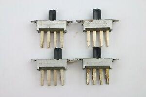 4pc C.W. Slide Switch 3-Position NOS Vintage USA On-Off-On 0.5A 125V AC DC
