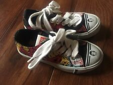 boys AUTHENTIC MARVEL COMICS IRONMAN shoes sneakers BLACK canvas toddler SIZE 9