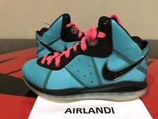 1c80f1dce0c NIKE LEBRON 8 SOUTH BEACH SIZE 8.5 BLACK PINK FLASH GREEN 417098 401 PRE  HEAT