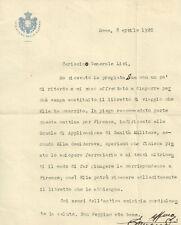 Ministero della Guerra Lettera Generale Rodolfo Livi Antropologo italiano 1920