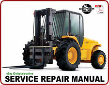 JCB 926 930 940 Rough Terrain Forklift Service Repair Manual CD