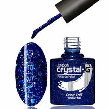 UK Crystal-g Premium UV LED Soak off GEL Nail Polish 8ml Fine Glitters Shellac E37
