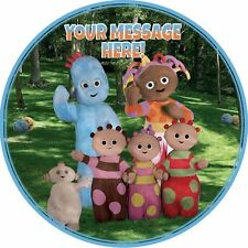 """A 7.5"""" Round In The Night Garden Personalised Cake Topper ICING"""