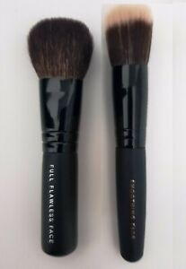 Bare Minerals Travel Mini Full Flawless & Smoothing Face Brushes Set New Sealed