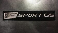 """Lexus F Sport GS High Quality Embroidered Patch 7.5"""" X 1.25"""" Black / Silver"""