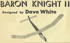 """Model Airplane Plans (FF): Baron Knight II 28"""" Rubber Powered"""