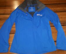 CBS Sports LL BEAN Womans Small Coat Jacket 2 Layer Hooded Removable Fleece blue
