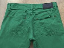 LACOSTE MENS W32 L32 SLIM FIT BUTTON FLY GREEN DESIGNER DENIM JEANS