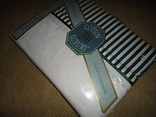 SPRINGS CLASSIC STRIPES FULL DOUBLE FLAT SHEET GREEN & WHITE 200 THREAD COUNT