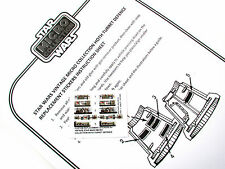 STAR WARS REPLACEMENT STICKERS for MICRO COLLECTION Hoth Turret defense DIE CUT!