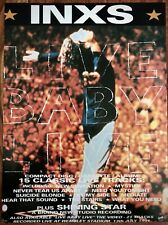 More details for inxs live baby live poster - 90's michael hutchence 12x9 imch magazine