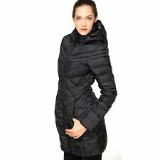 Women's Nike Cascade Goose Down Full Zip Hooded Coat Size Extra Small 541406-010