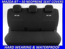 MAZDA BT-50 MK2 UR  REAR  SPORTS  NEOPRENE SEAT COVERS ( WETSUIT MATERIAL )