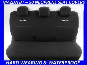 FITS MAZDA BT-50 MK2 UR  REAR  SPORTS  NEOPRENE SEAT COVERS (WETSUIT MATERIAL)