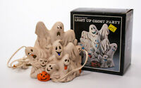 Vintage Light Up Ghost Party Ceramic Halloween Ghosts Figure