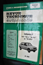 Revue technique automobile Renault 14 L-TL-GTL n° 3682