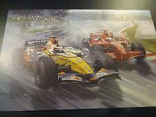 2007 Japanese GP, Fuji, Renault Kovalainen, Ferrari Raikkonen, by Michael Turner