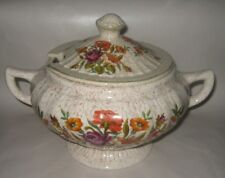 VINTAGE CERAMIC FLORAL SOUP TUREEN WITH LID - VERY PRETTY - TAKE A LOOK