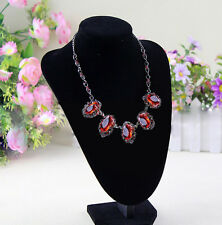 Velvet Necklace Pendant Chain Jewelry Bust Display Holder Stand Brand D56