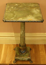 MAGNIFICENT 19c FRENCH GILT BRONZE MOUNTED CHAMPLEVE ONYX TABLE,MUST SEE