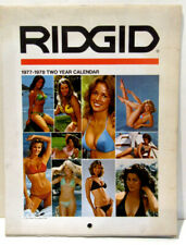 Rigid Tools Two-Year Calendar 1977 Vintage Rare Pin-Up Cheesecake Photography