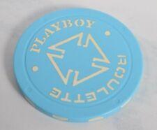 Vtg Playboy Casino Chip Playboy Roulette Baby Blue