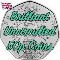 Rare Brilliant Uncirculated BUNC 50p Coin Kew Gardens GRUFFALO Snowman PETER PAN