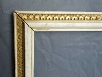 Antique Ornate Gold White Gesso Art Nouveau Picture Frame Fits 14.75 x 12.75