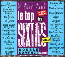 LE TOP DES SIXTIES VOLUME 2 - 2 CD COMPILATION CARRERE FRANCE [920]