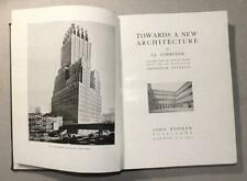 LE CORBUSIER - TOWARDS A NEW ARCHITECTURE - 1931 RODKER PUB. - VERY GOOD COND.
