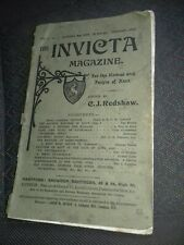 THE INVICTA MAGAZINE Vol.1 No.1 February 1908. Kent History old book.