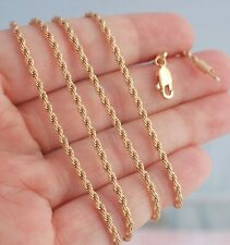 2mm Twist Rope Chain Necklace Warm Gold Filled Jewelry 28 inch