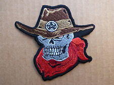 ECUSSON PATCH THERMOCOLLANT COW BOYS SHERIFF country indien biker /8.6 x 8.8cm