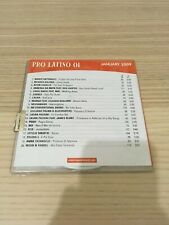 Pro Latino 01 for dj Use Only_CD Compilation PROMO_Pausini Negramaro RARO! UK