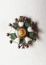 Croix Légion d'Honneur Médaille réduction en argent massif + or 19e siècle