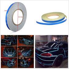 "0.4"" x 150' Blue DIY Car Truck Body Stripe Reflective Sticker Tape Self Adhesive"