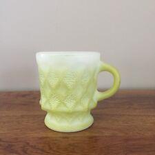 Vintage Fire King Mug Kimberly Diamond Green Ombre Coffee Cup Anchor Hocking