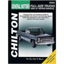 Chilton Repair Manual Chevrolet Pick-ups, 1980-87 #28622