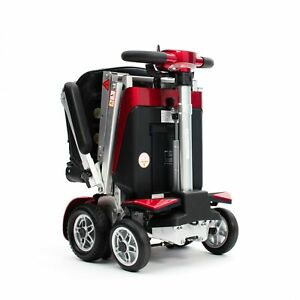 Drive Devilbiss AutoFold Elite Auto Folding Mobility Scooter With Suspension Red