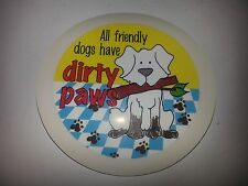 QTY 1 (ONE) CARTOON TAX DISC holders-- REF ALL FRIENDLY DOGS HAVE DIRTY PAWS