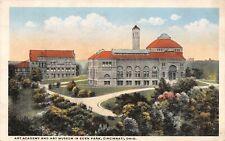 Cincinnati Ohio~Eden Park Art Academy & Art Museum Panorama~1920s Postcard